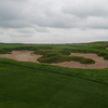 Some of Erin Hills Golf Course's bunkers look like alien shapes.