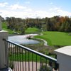 A view from the clubhouse terrace at Green Bay Country Club