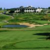 A view from tee of the clubhouse at Green Bay Country Club