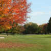 A view of fairway #1 with path on the left at Shorewood Golf Course