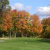 A fall view of fairway at Wanaki Golf Course