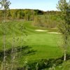 A view of the 5th green from the 6th tee box at Shamrock Heights Golf Club