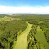 Aerial view of the 15th fairway at Fairways of Woodside Golf Course