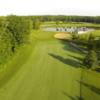 Aerial view of fairway and green #11 at Fairways of Woodside Golf Course