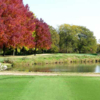 A fall day view from a tee at Cherokee Country Club