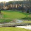 A view of a fairway at Greenwood Hills Country Club.